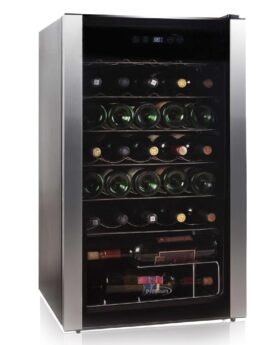 Silverline 19.8 in. 34-Bottle Freestanding Wine Cooler