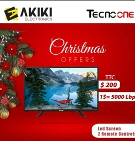 TECHNO ONE LED TV with 2 remote controls