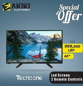 Techno one LED 40 Inch TV with 2 remote controls