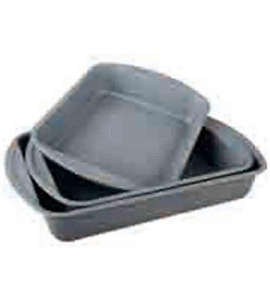 Royal Gourmet Rectangular Bake Pan Set 3 Pieces RPS03