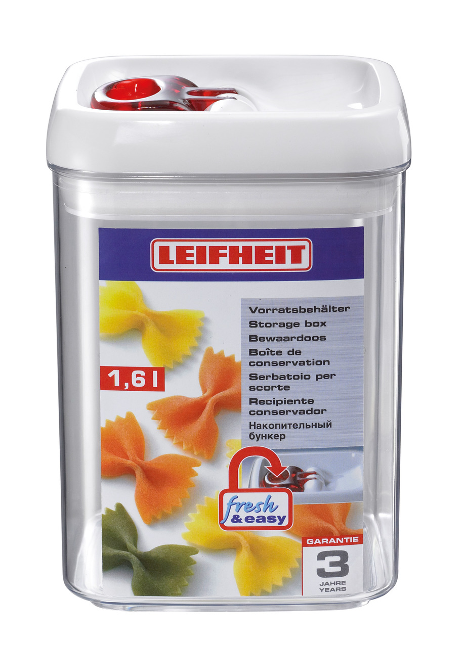 LEIFHEIT 31211 STORAGE CONTAINER FRESH&EASY 1.6L SQUARE