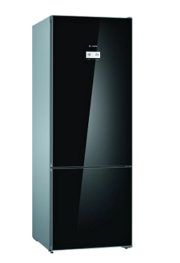 BOSCH Serie   6 free-standing fridge-freezer with freezer at bottom Black KGN56LB30U