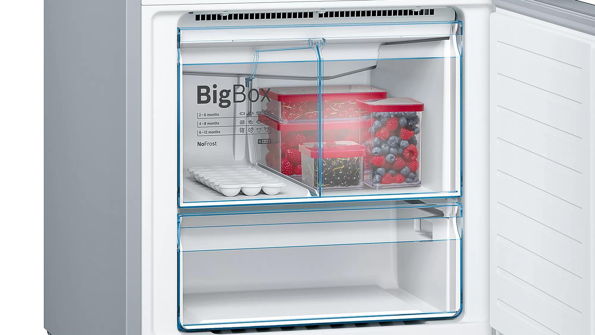 BOSCH Serie   6 free-standing fridge-freezer with freezer at bottom Black KGN56LB30U 5