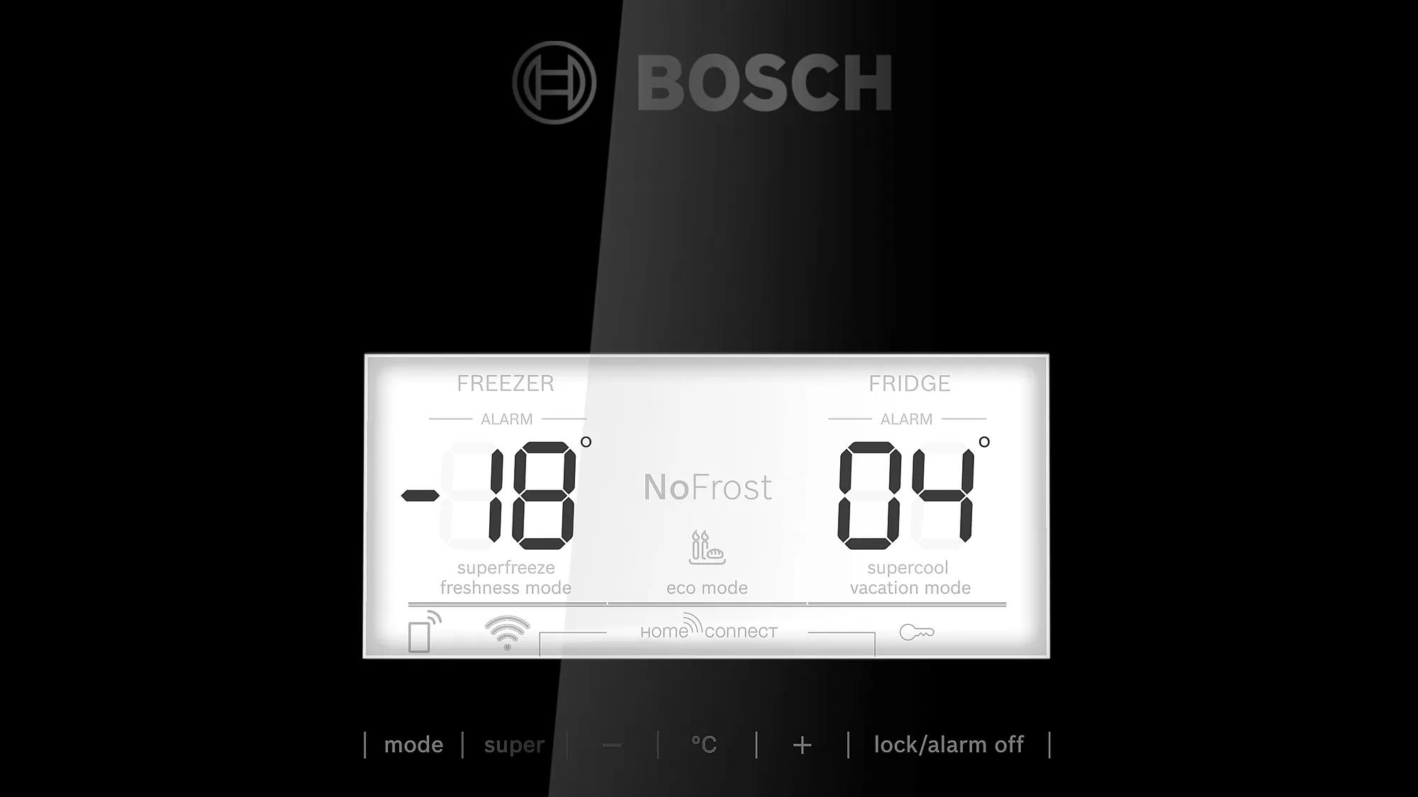 BOSCH Serie   6 free-standing fridge-freezer with freezer at bottom Black KGN56LB30U 6