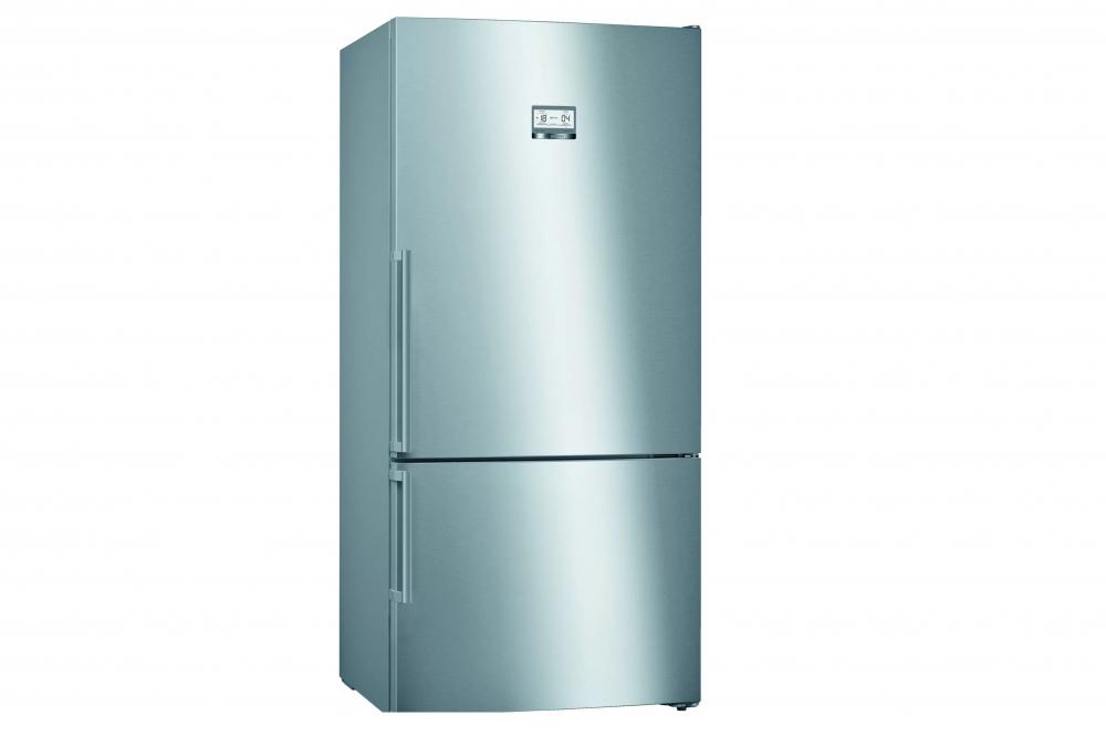 BOSCH Serie | 6 free-standing fridge-freezer with freezer at bottom Stainless steel (with anti-fingerprint) KGN86AI30U