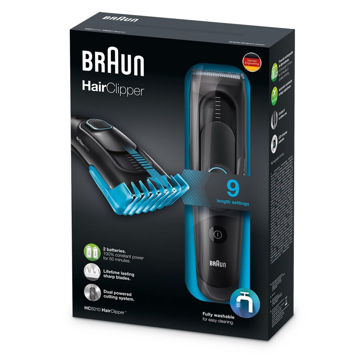 Braun Hair Clipper, Black, HC5010