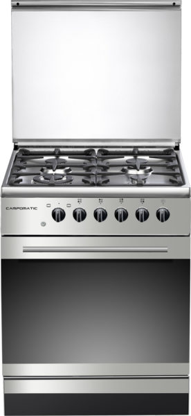 Campomatic 60 X 60 cm Gas cooker Full saftey Silver C64FSTIC
