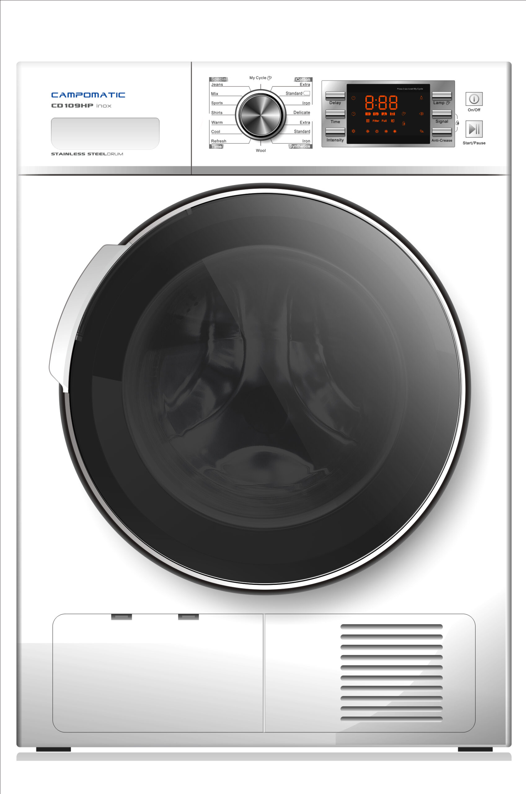 Campomatic Heat Pump Condenser Dryer 10KG White CD109HPS