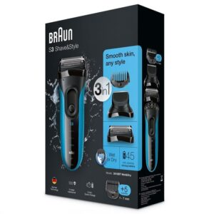 Braun 3010BT Series 3 Shave & Style 3-in-1 Electric Wet & Dry Shave