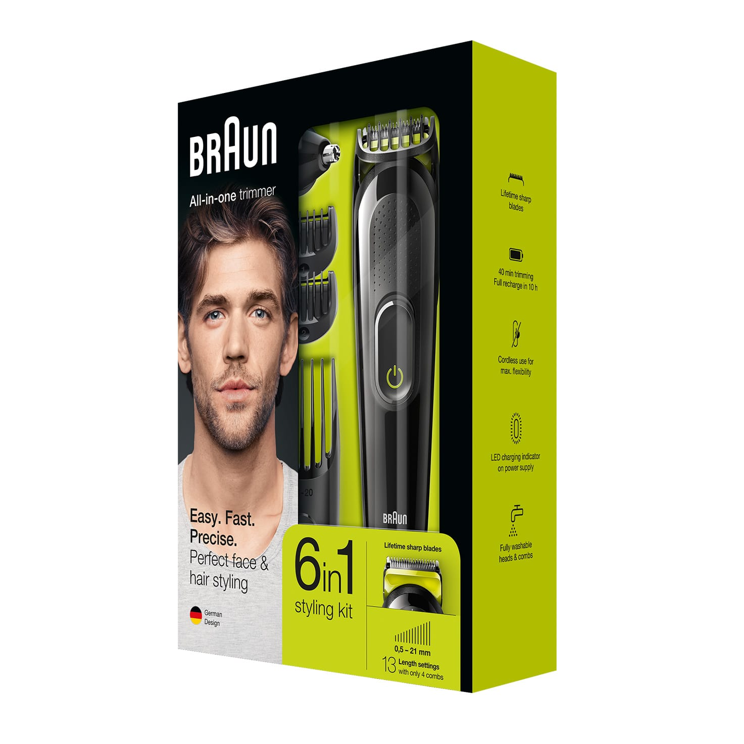 All-in-one trimmer MGK3021, 6-in-1 trimmer, 5 attachments black