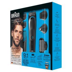 Braun All-in-one trimmer MGK5080, 9-in-1 trimmer, 7 attachments and Gillette Fusion5 ProGlide razor