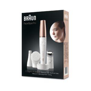 Braun FaceSpa Pro 911 3-in-1 facial epilating, cleansing & skin toning system