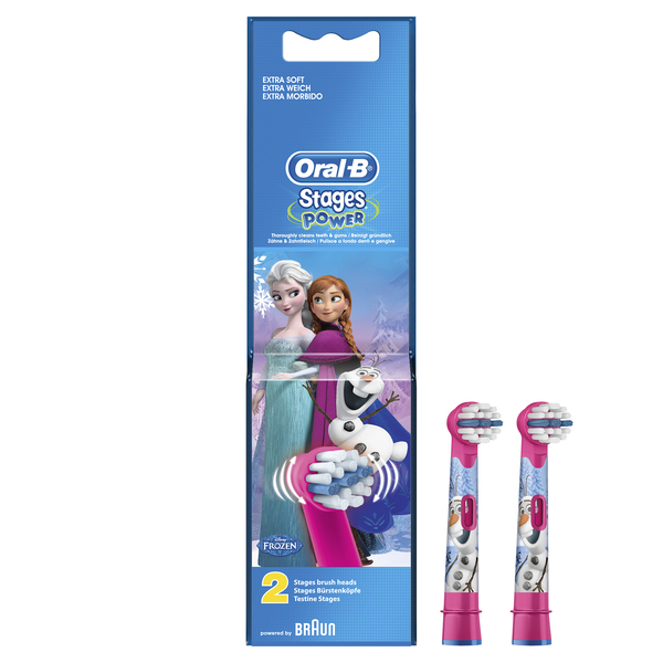 Oral-B Stages Kids Frozen Replacement Brush Heads 2Pk EB10K
