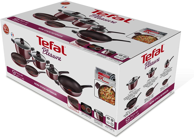 Tefal Pleasure Cooking Set of 9 Pieces Burgundy Aluminum D5059752 6
