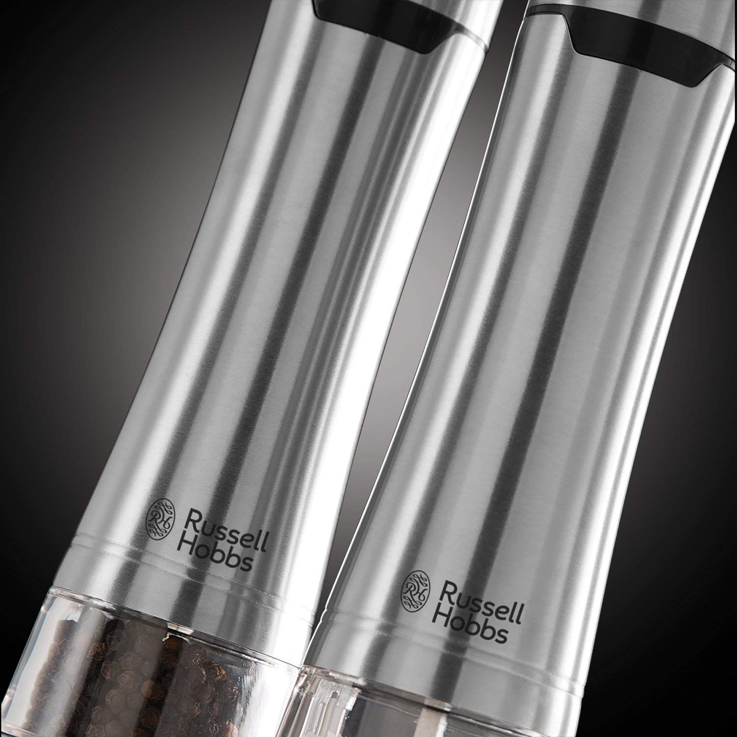 Russell Hobbs Battery Powered Salt & Pepper Grinders – Stainless Steel and Silver 2