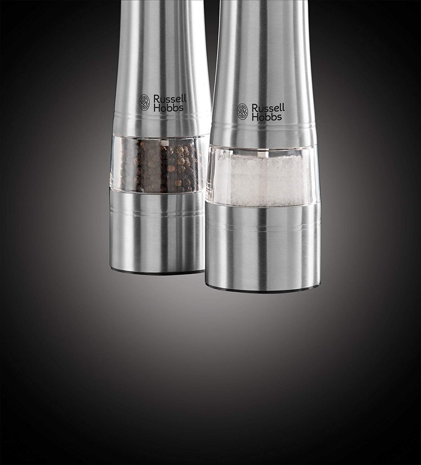 Russell Hobbs Battery Powered Salt & Pepper Grinders – Stainless Steel and Silver 5