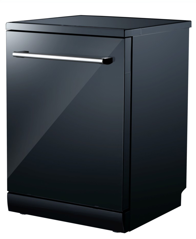 Campomatic Dish Washer Black Glass DW911EB