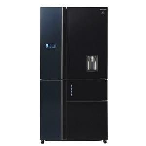 Sharp Refrigerator 26CFT Glass Black SJFSD910BK5