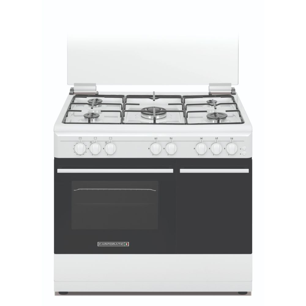 Campomatic Cooker with 4 gas burners, white CB95TW