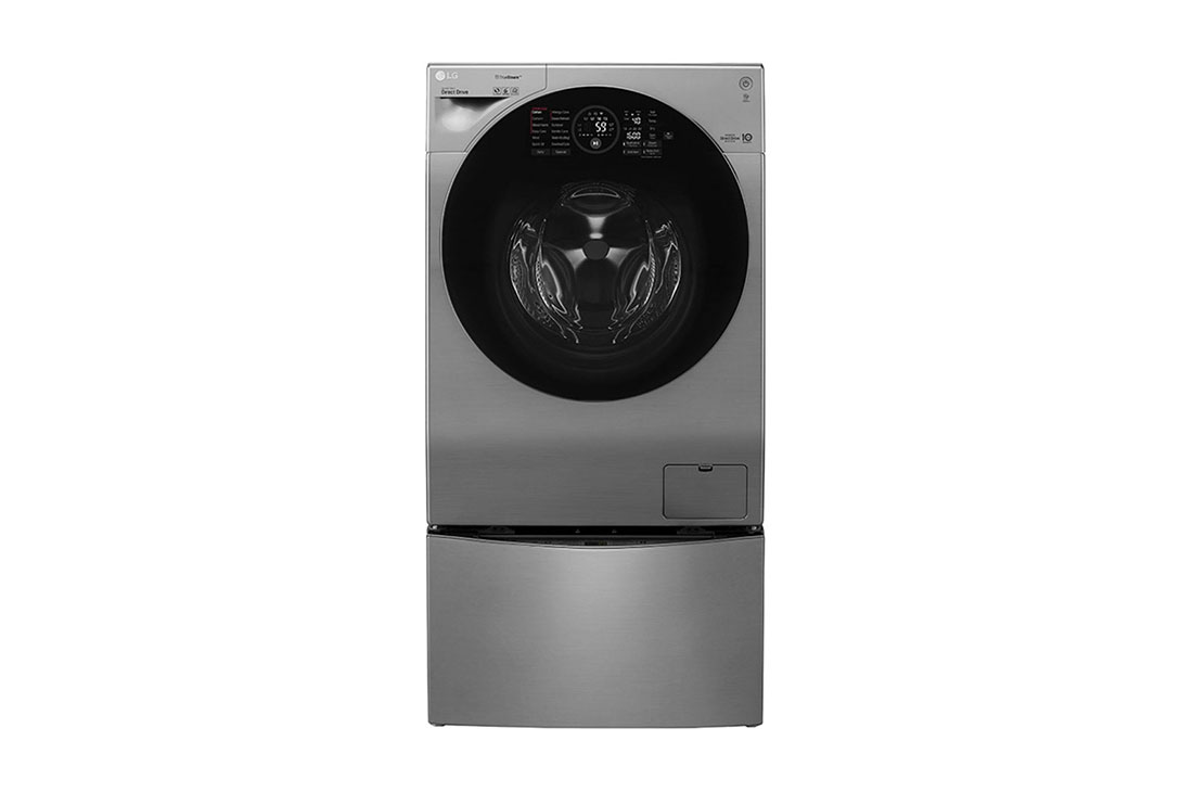 LG 12/8 kg Fully Automatic Front Loading Twin Wash Washing Machine (FH6G1BCHK6N/F8K5XNK4, Stainless Steel)