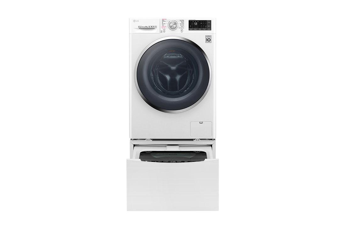 LG TWIN WASH AND DRYER 10.5KG W /7KG WHITE WDJ8142WDJH/F8K5XNK3