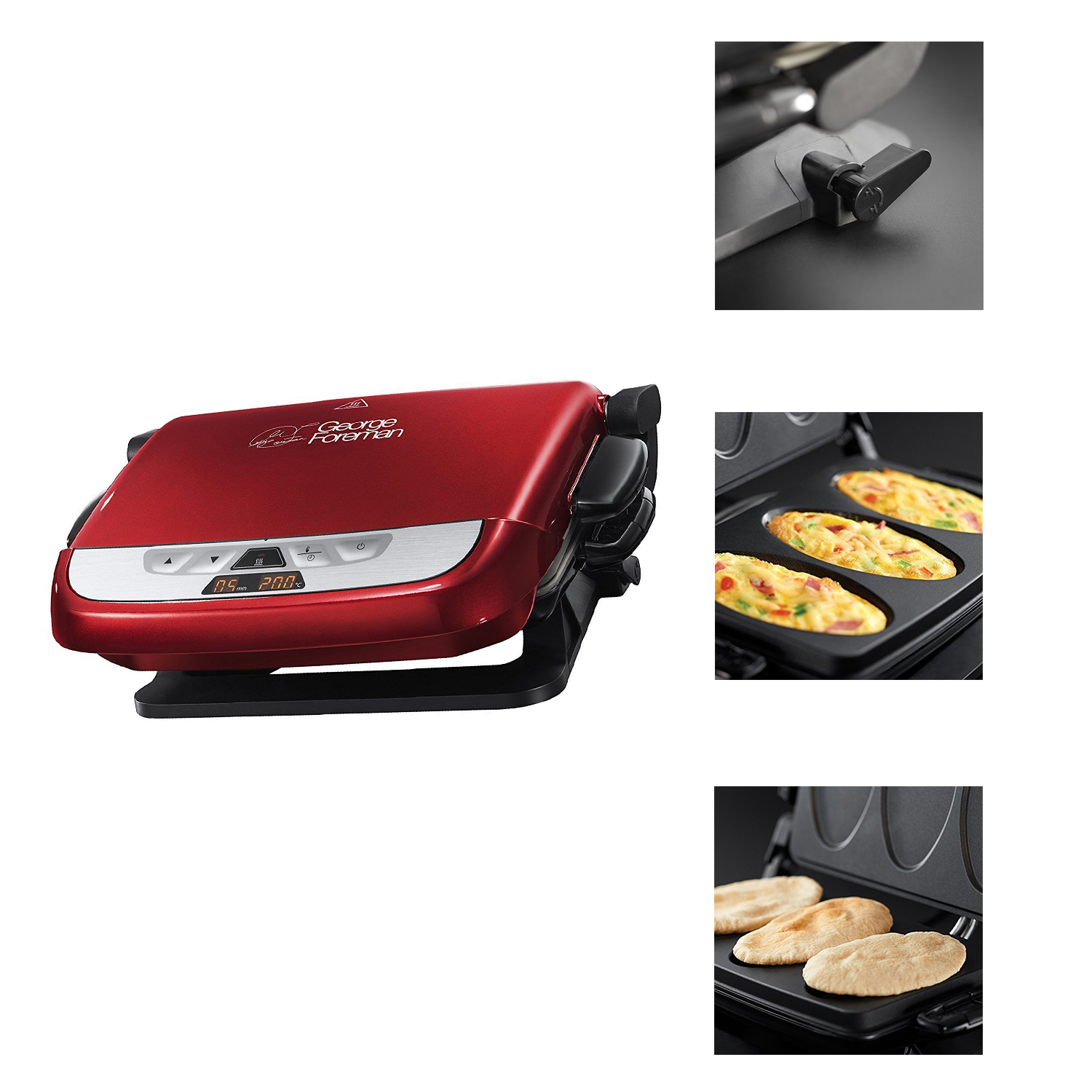Russell Hobbs Evolve Red Grill 2