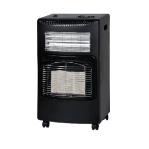 Campomatic Gas Heater 3 in 1 Fan Heater 1200W Black GH3EFOBL