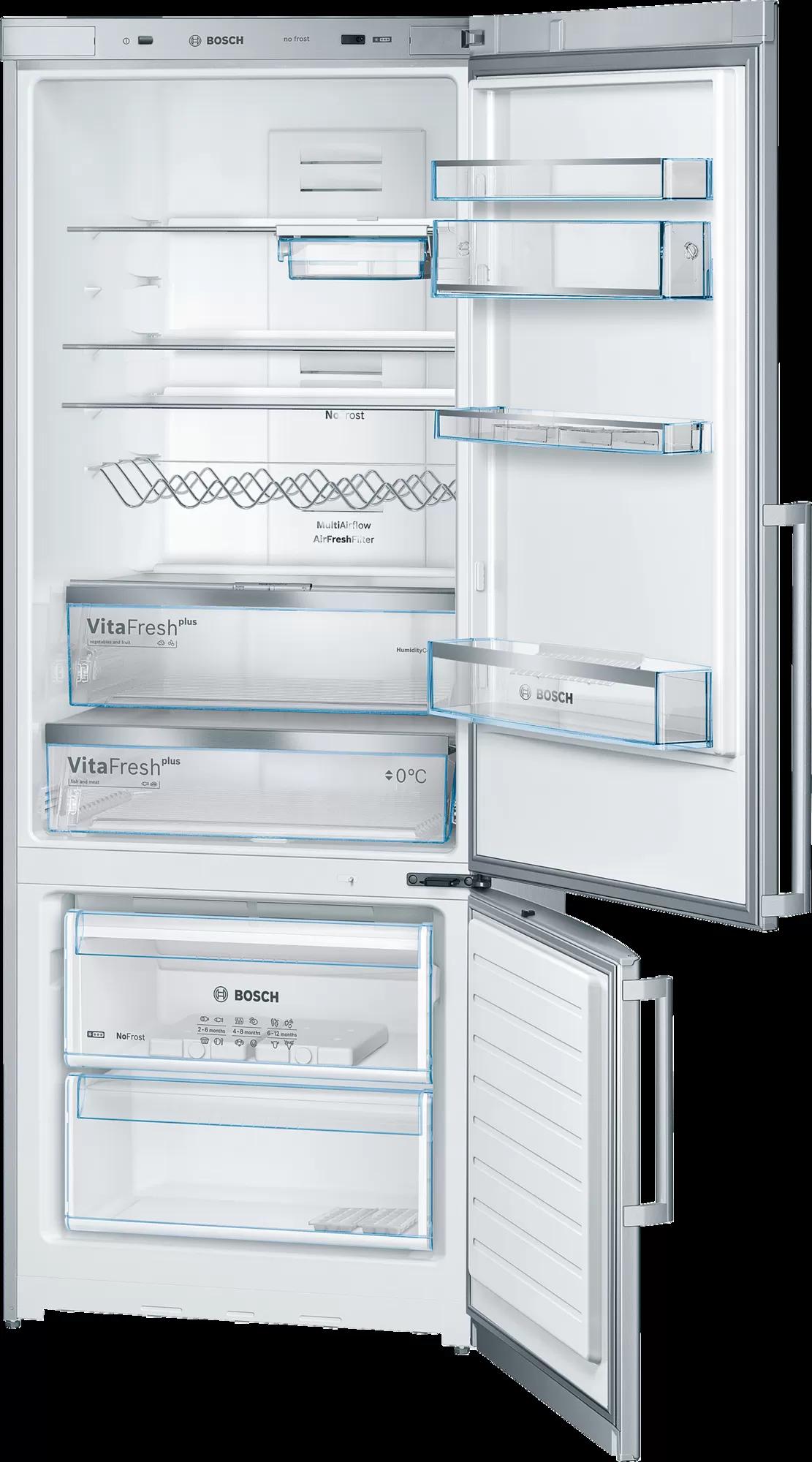 Bosch Serie | 8 free-standing fridge-freezer with freezer at bottom Stainless steel (with anti-fingerprint) KGN57PI20U 2