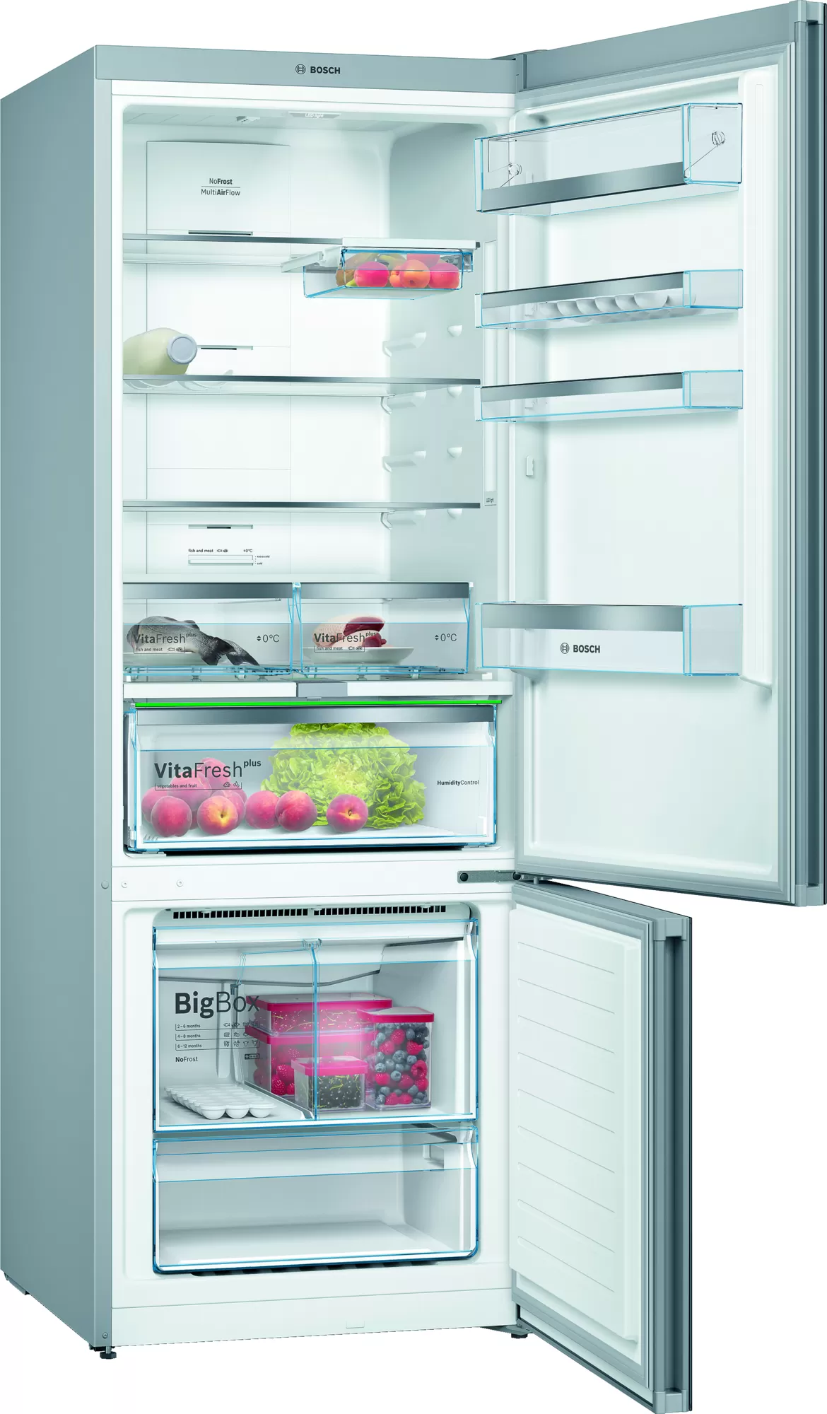 BOSCH Serie   6 free-standing fridge-freezer with freezer at bottom Black KGN56LB30U 2