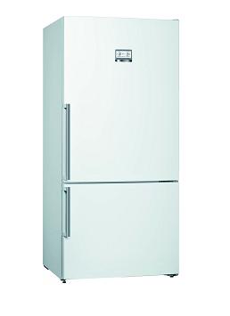 Bosch Serie | 6 free-standing fridge-freezer with freezer at bottom White KGN86AW30U