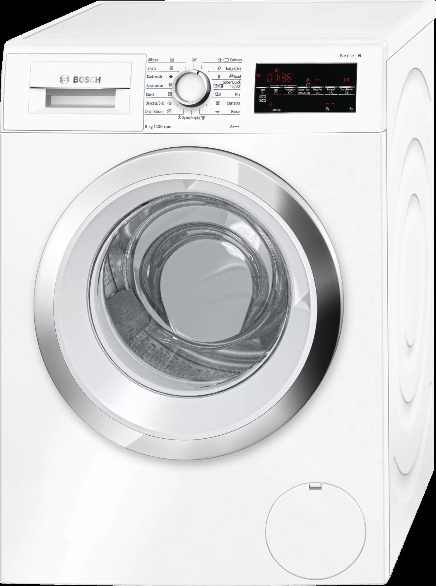 BOSCH WASHING MACHINE 9 KG 1400 RPM WHITE WAT28481ME