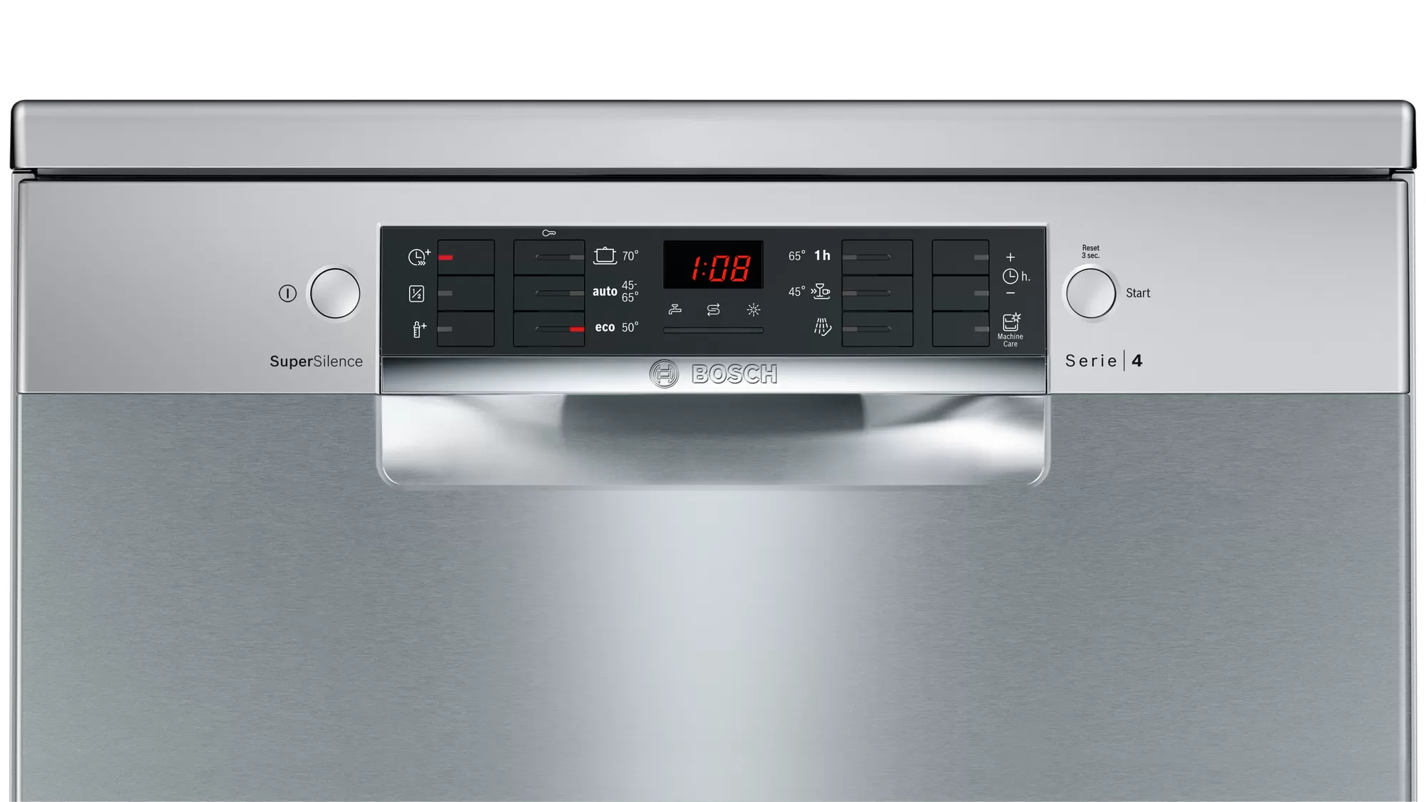 Bosch Serie   4 free-standing dishwasher 60 cm Stainless steel lacquered SMS46II10Q 2