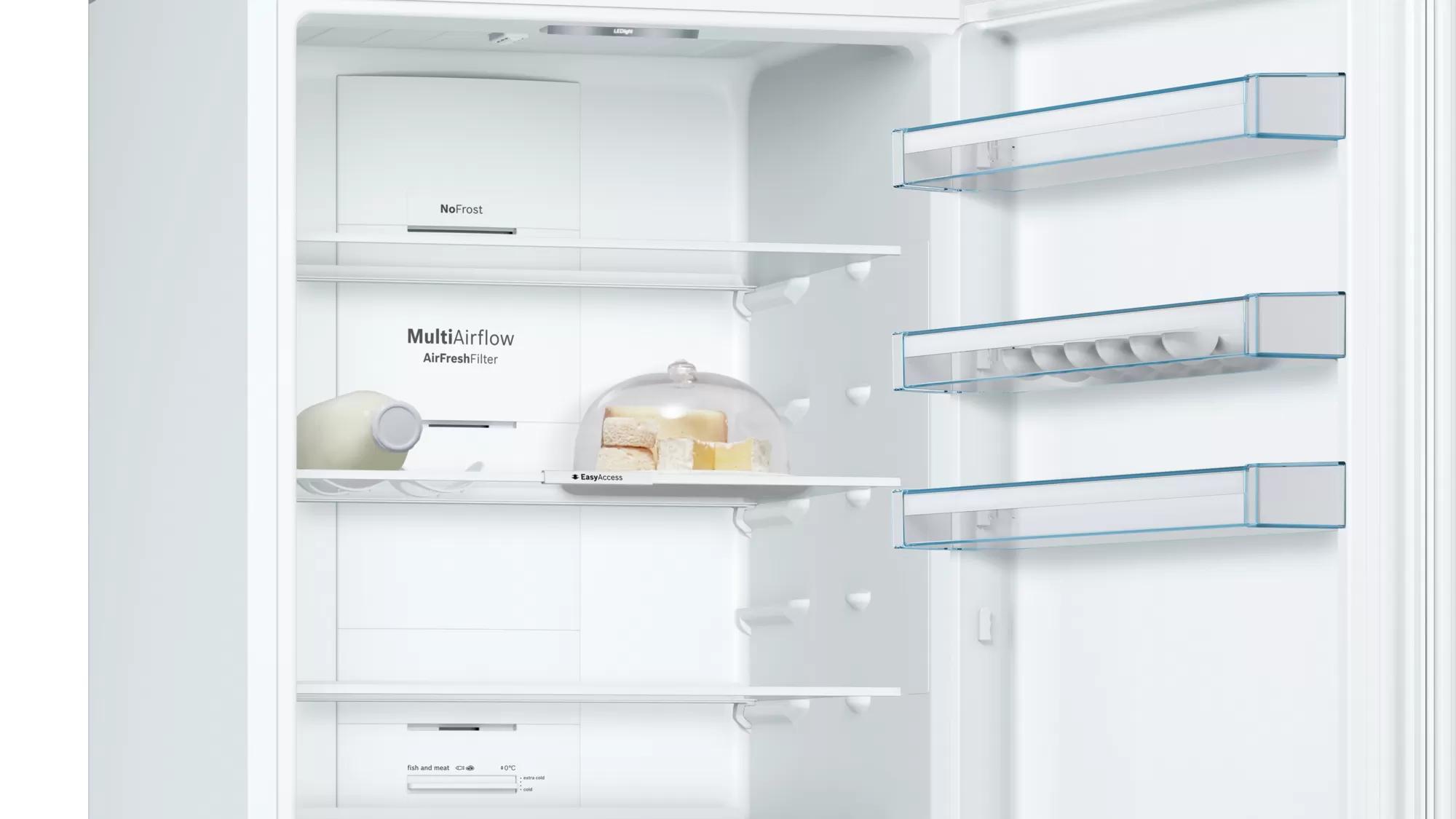 BOSCH Serie | 4 free-standing fridge-freezer with freezer at bottom White KGN56VW30U 7