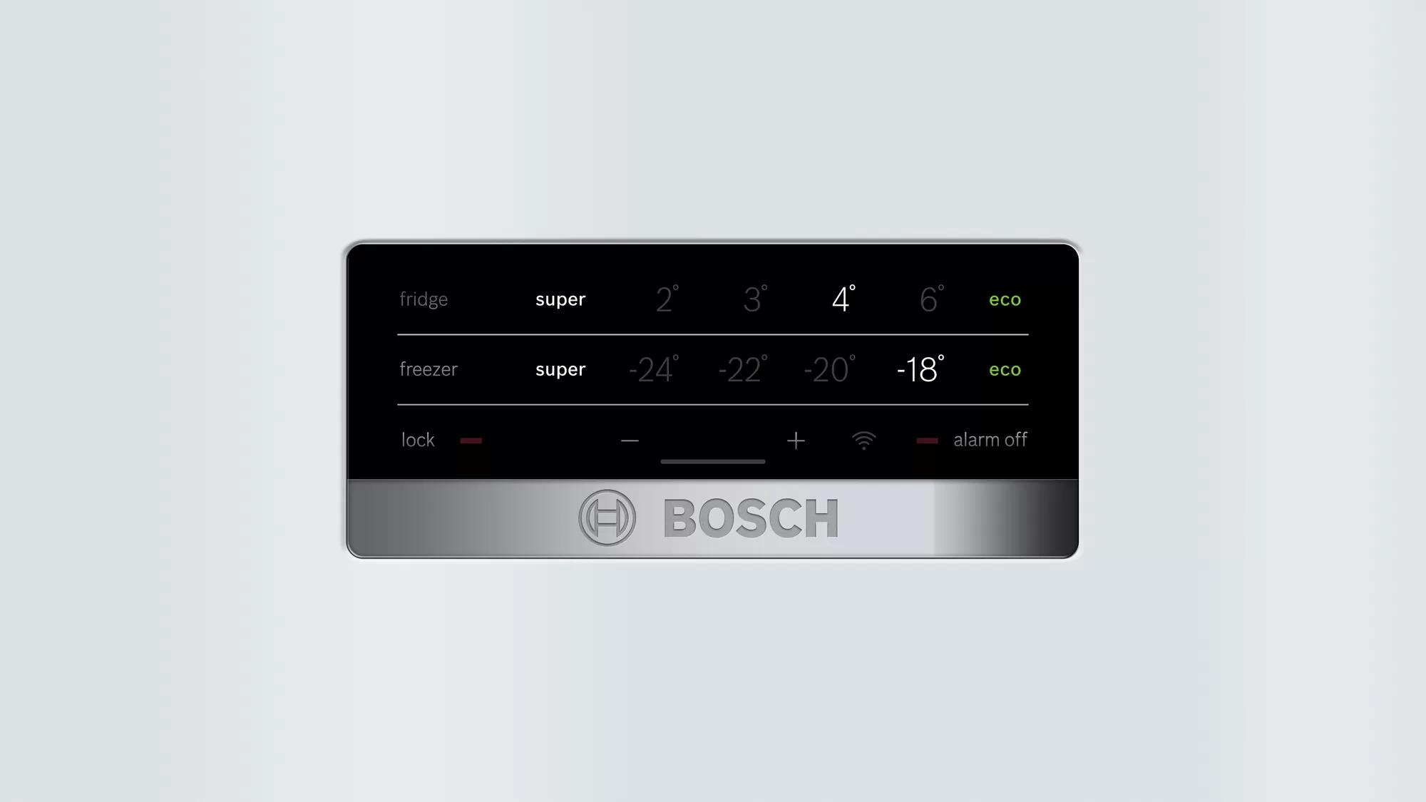 BOSCH Serie | 4 free-standing fridge-freezer with freezer at bottom White KGN56VW30U 5