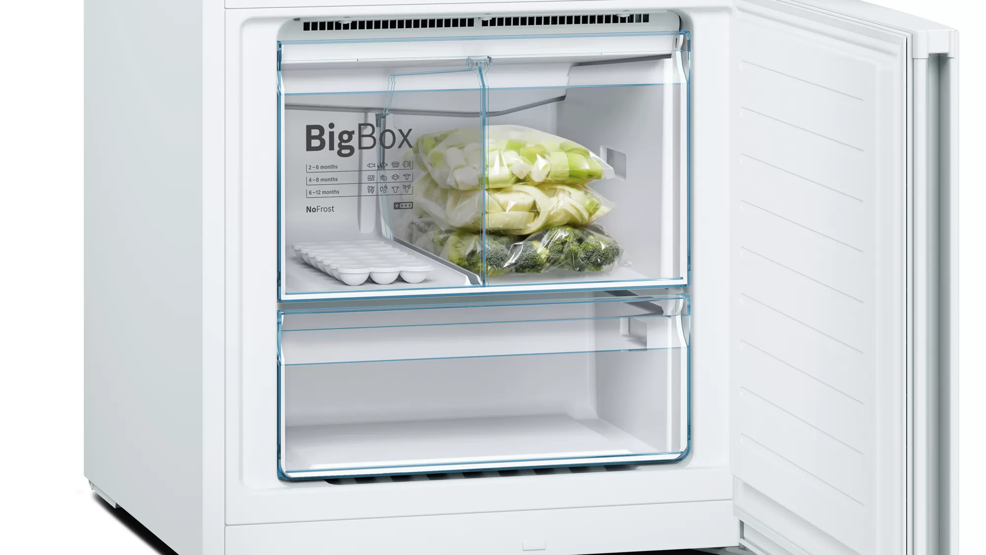 BOSCH Serie | 4 free-standing fridge-freezer with freezer at bottom White KGN56VW30U 4