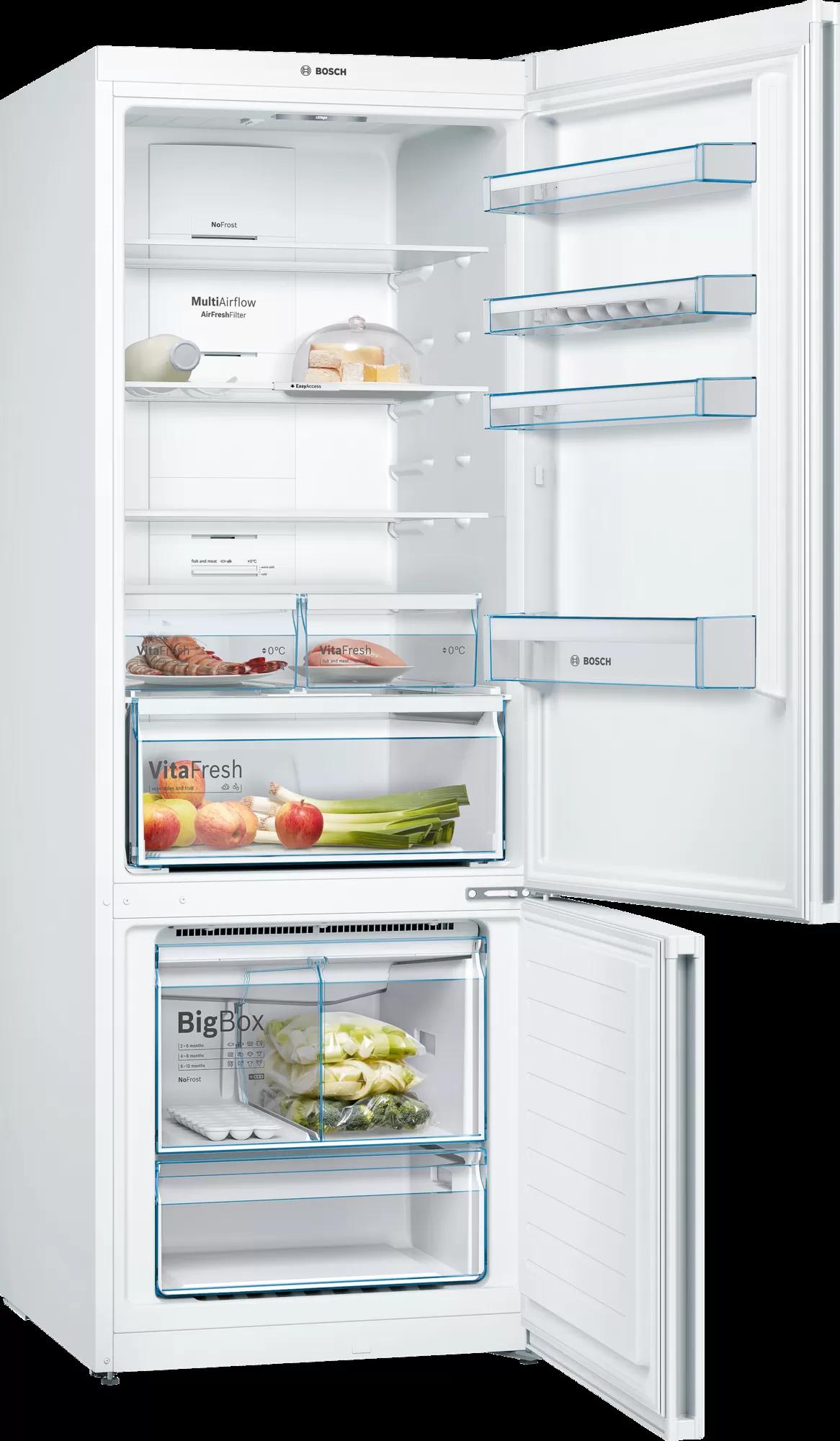 BOSCH Serie | 6 free-standing fridge-freezer with freezer at bottom Stainless steel (with anti-fingerprint) KGN86AI30U 2