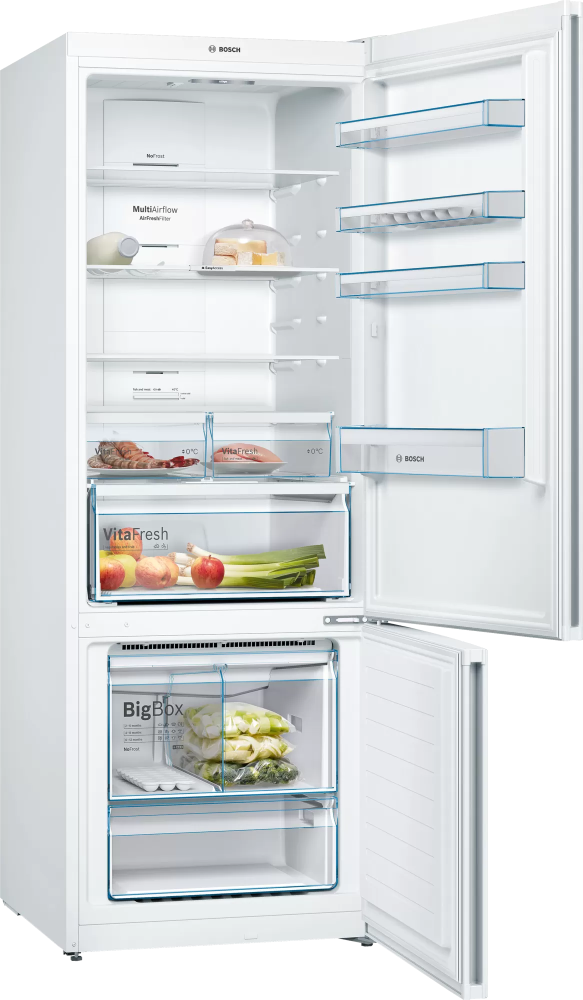 Bosch Serie | 6 free-standing fridge-freezer with freezer at bottom White KGN86AW30U 2