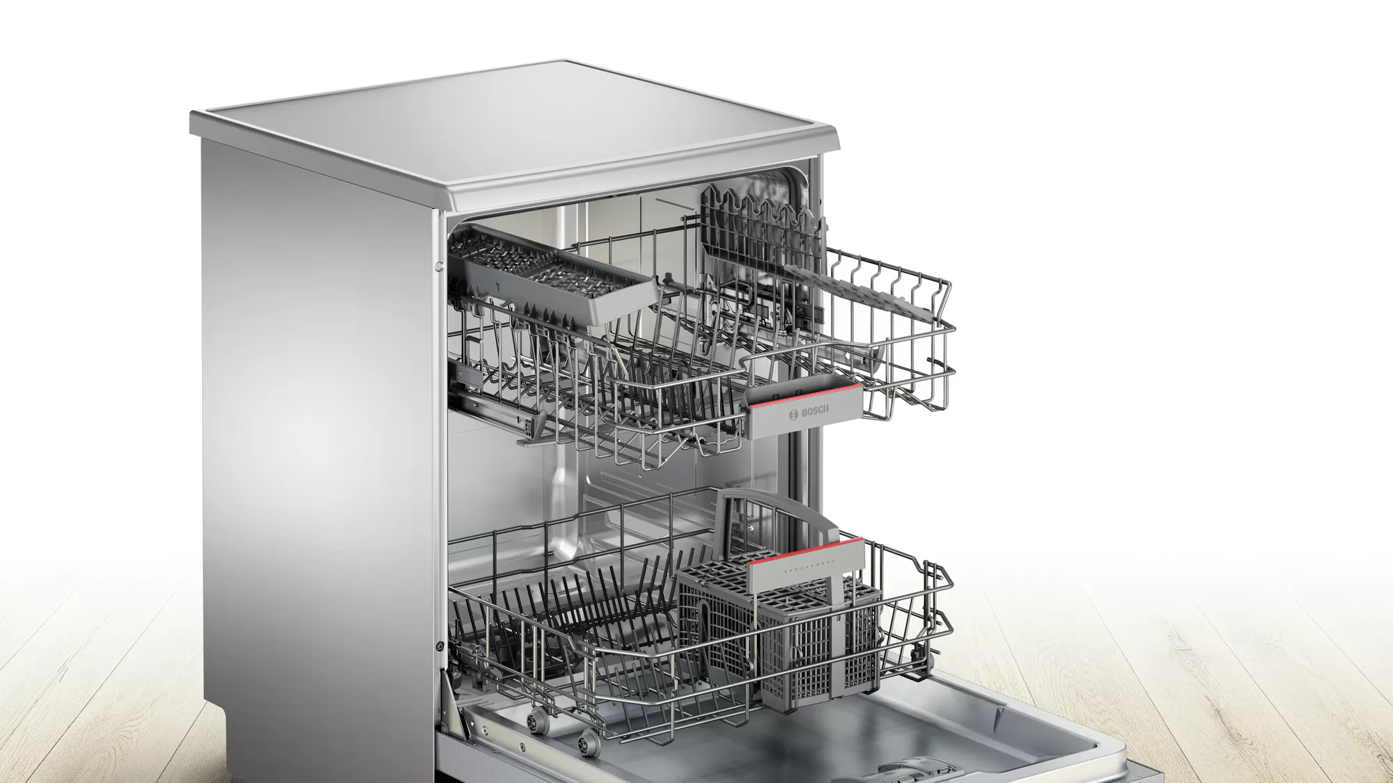 Bosch Serie   4 free-standing dishwasher 60 cm Stainless steel lacquered SMS46II10Q 5