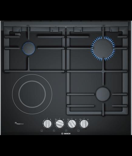 BOSCH Serie | 8 Mixed hob (gas and electric) 60 cm Ceramic, Black PRY6A6B70Q