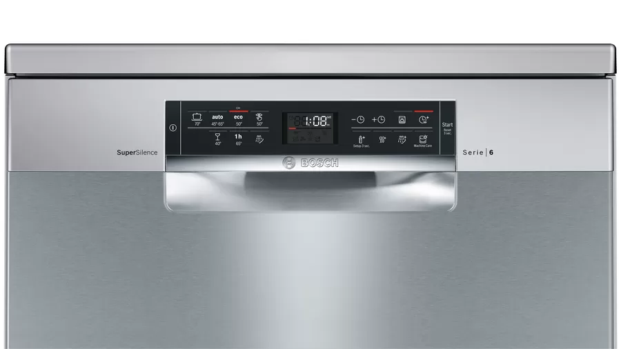 Bosch Serie | 6 free-standing dishwasher 60 cm Stainless steel, lacquered SMS67NI10Q 6