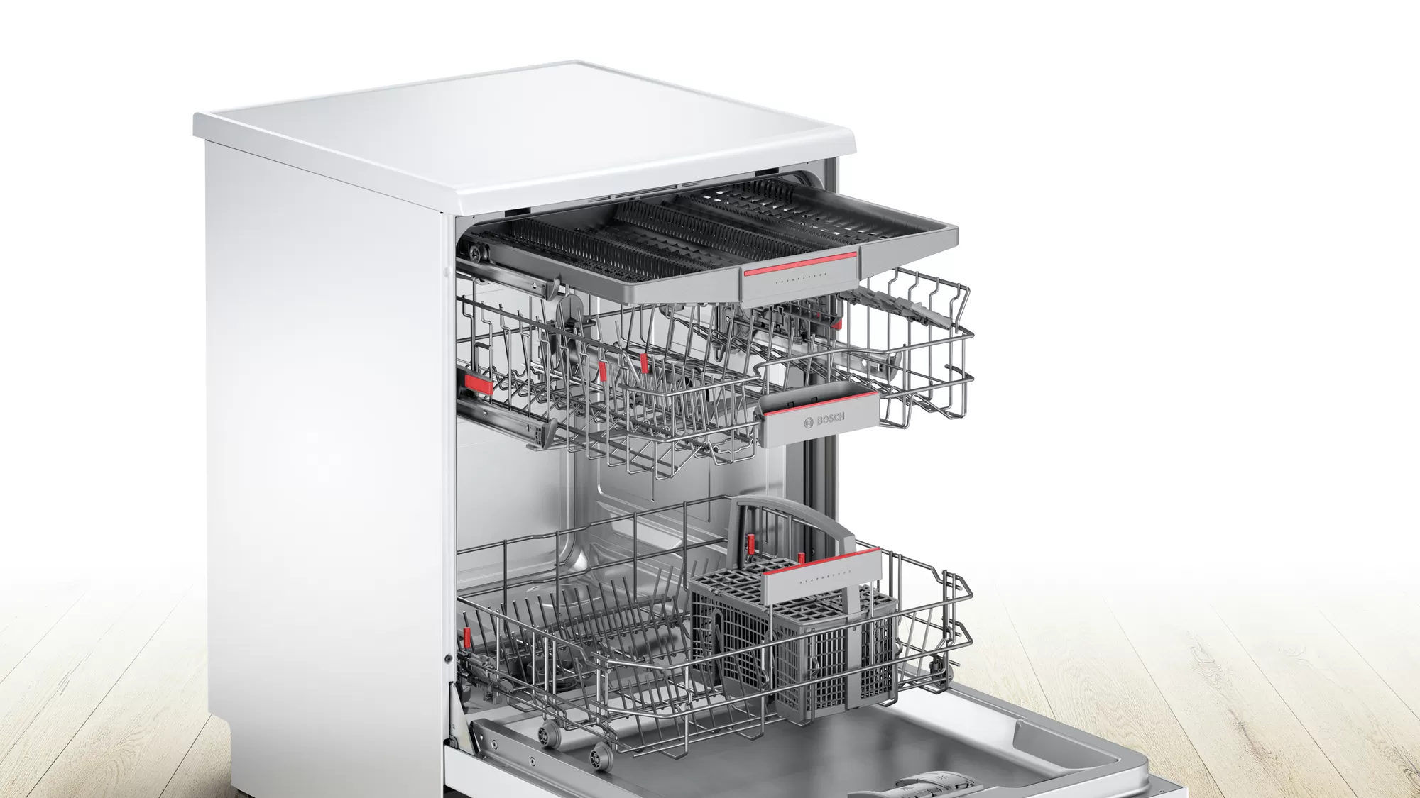Bosch Serie | 6 free-standing dishwasher 60 cm White SMS67NW10Q 3