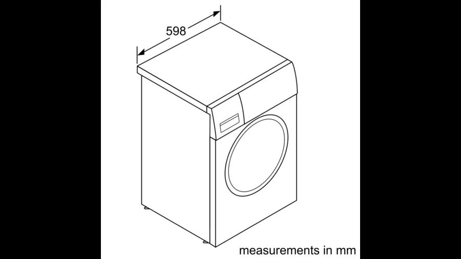 BOSCH Serie | 8 washing machine, frontloader fullsize 8 kg 1600 rpm WAW32560ME 5