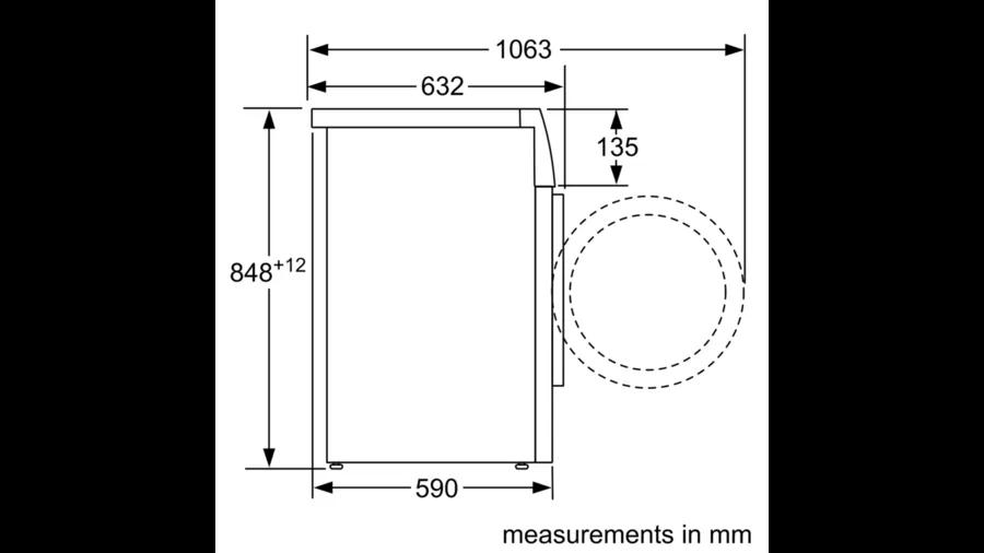 BOSCH Serie | 8 washing machine, frontloader fullsize 8 kg 1600 rpm WAW32560ME 6