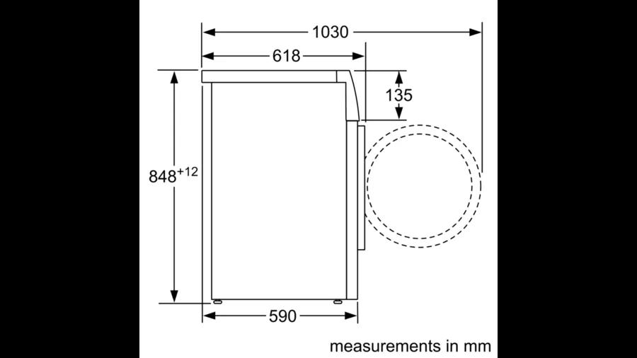 BOSCH WASHING MACHINE 9 KG 1400 RPM WHITE WAT28481ME 5