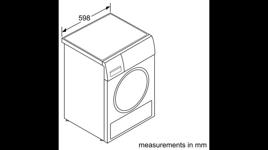 BOSCH Serie | 6 heat pump dryer 9 kg WTW85461BY 4