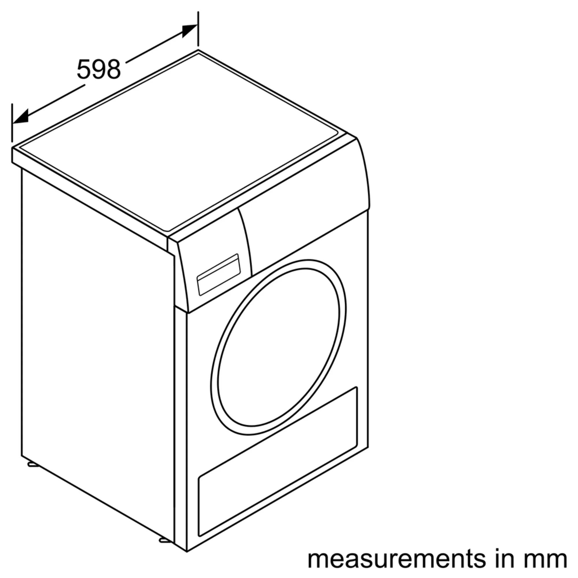 BOSCH Serie | 6 condenser tumble dryer 8 kg Inox-easyclean WTG8640XME 4