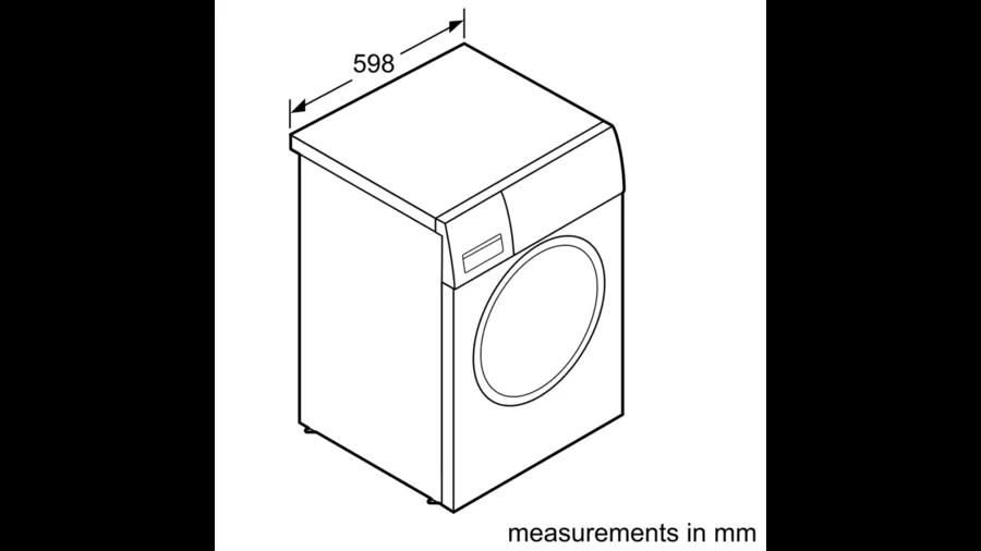 BOSCH Serie   4 heat pump tumble dryer 8 kg WTH83000ME 5