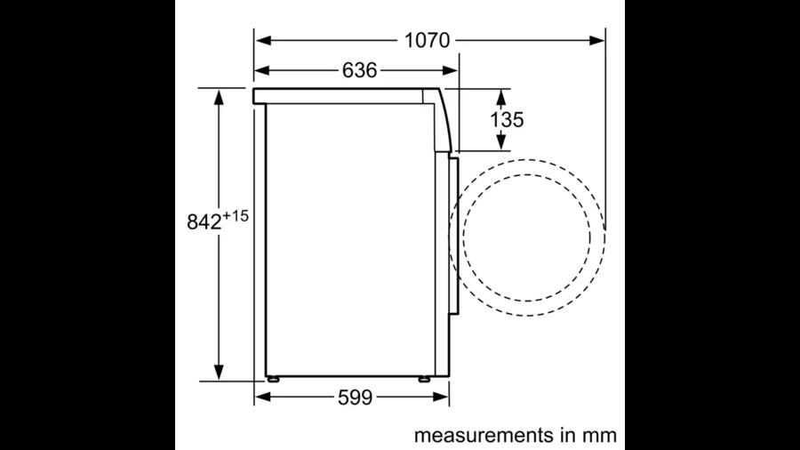 BOSCH Serie   4 heat pump tumble dryer 8 kg WTH83000ME 3