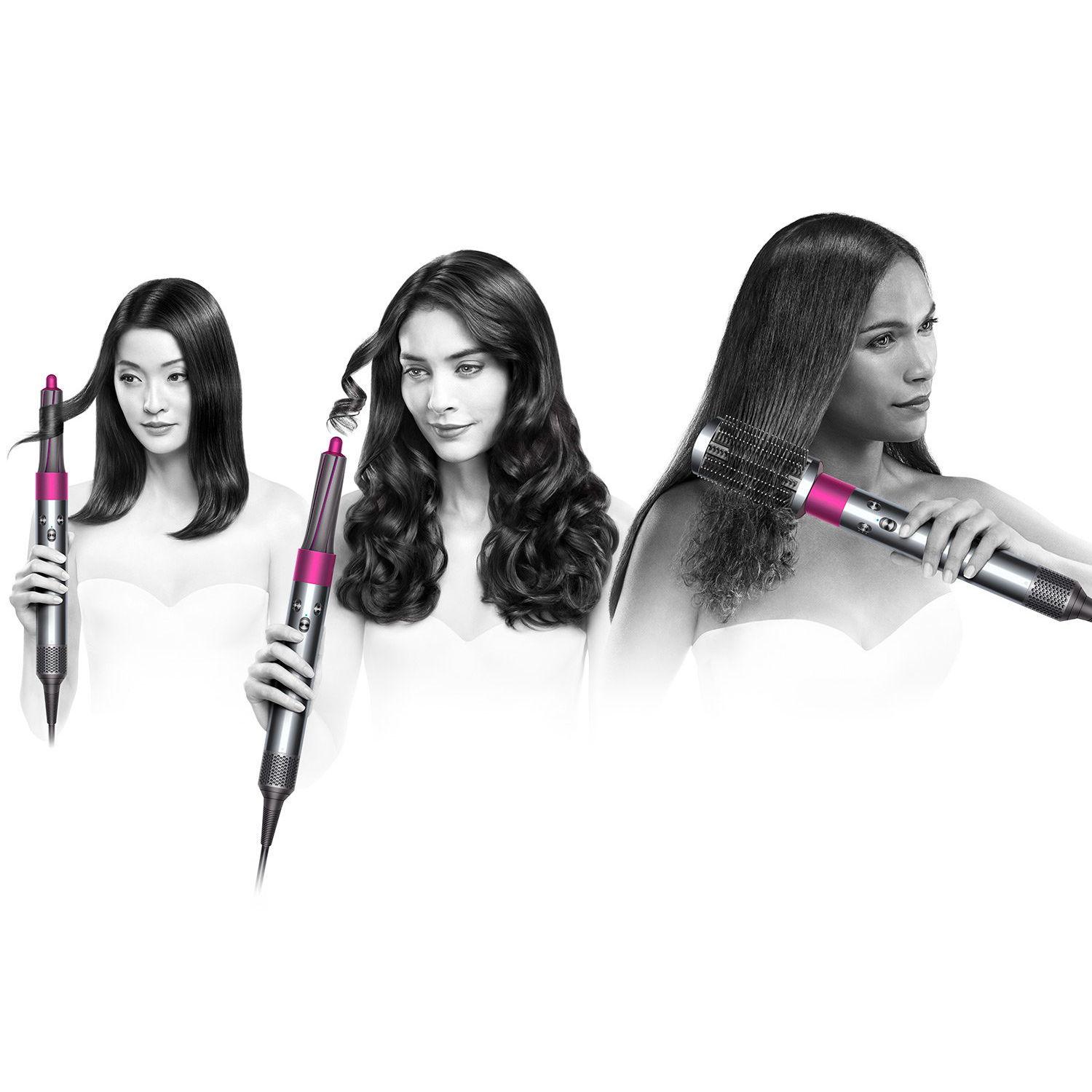 Dyson Airwrap Complete Styler Hair Styling Set Pre-Styling Dryer 4 Curling Barrels 2 Smoothing Brushes and Volumizing Brush 8