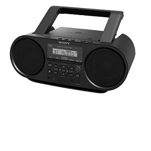 Sony CD Boombox with Bluetooth & Remote Control ZS-RS60BT